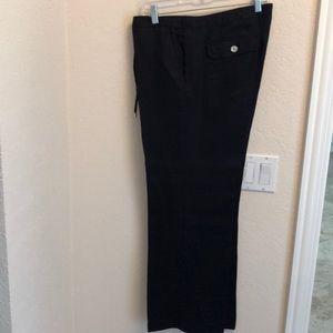 Navy linen pants size 12